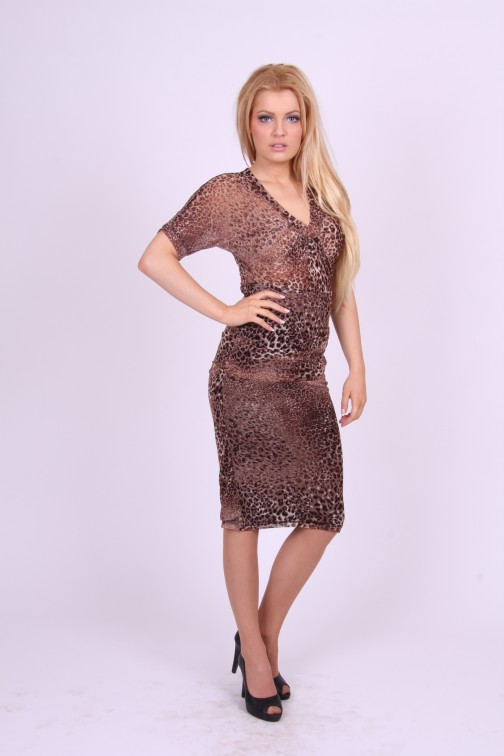Benedikte utzon animal print dress
