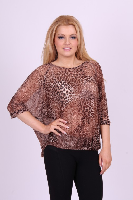 Benedikte Utzon animal print top