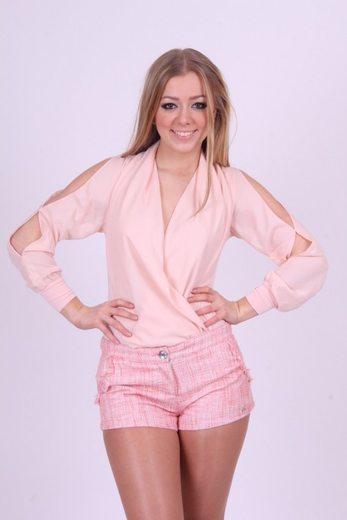Jacky Luxury shortje in Coral tweed,