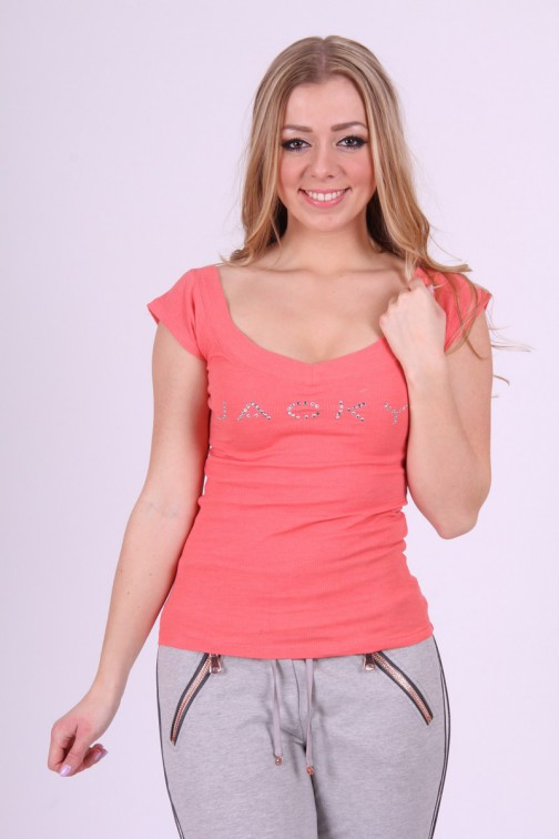 Jacky Luxury shirt in coral: JACKY