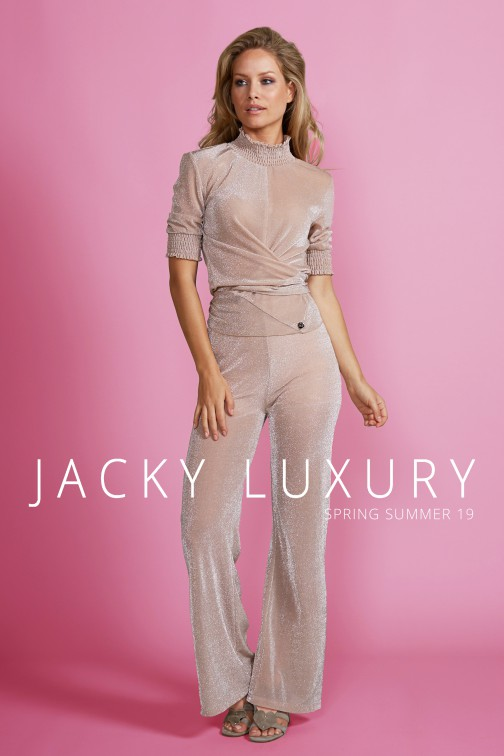 Jacky Luxury lurex broek - Nude