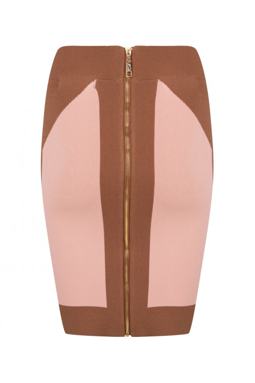 Josh V Skirt soft nude & brown