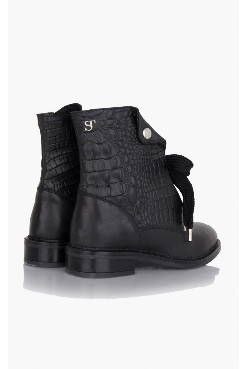 Supertrash reptile print boots MOLLY