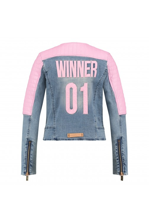 Tailor & Elbaz Winner Jeans jacket in pink