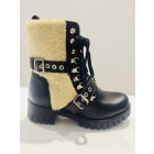 So Jamie boots Cozy black leather & lammy