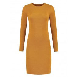 Nikkie Jolie dress lurex in Amber