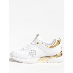 Guess Marlyn sneakers in wit met goud