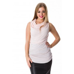 Jacky Luxury top met waterval decoleté in pink.