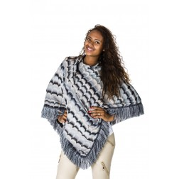 b-loved poncho in zwarte missoni print.