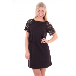 B.loved jurk in black with lace