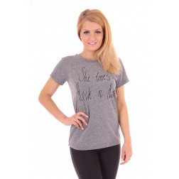 By Danie shirt in grey: She loves rock&roll